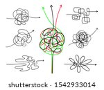 confusing difficult arrows.... | Shutterstock .eps vector #1542933014