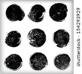 grunge shapes  | Shutterstock .eps vector #154293929