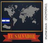 american el salvador outline... | Shutterstock .eps vector #1542950411