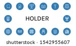 set of holder icons. such as... | Shutterstock .eps vector #1542955607