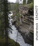 Athabasca Falls  View Into The...