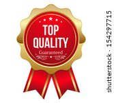 red top quality badge with... | Shutterstock .eps vector #154297715