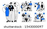 collection of succesfull team... | Shutterstock .eps vector #1543000097