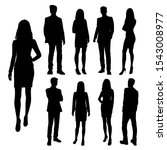 vector silhouettes of  men and... | Shutterstock .eps vector #1543008977