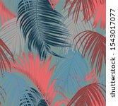 trendy seamless luxury tropical ... | Shutterstock . vector #1543017077