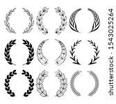 laurel wreath vector. winner... | Shutterstock .eps vector #1543025264