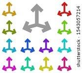three side arrows multi color...