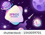 horizontal space background... | Shutterstock .eps vector #1543059701