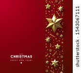 red christmas background with... | Shutterstock .eps vector #1543067111