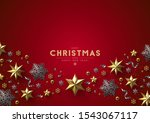 red christmas background with... | Shutterstock .eps vector #1543067117
