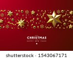 red christmas background with... | Shutterstock .eps vector #1543067171