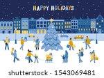christmas banner template.... | Shutterstock .eps vector #1543069481