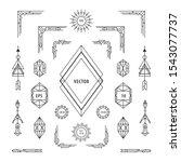 set of vintage linear geometric ...   Shutterstock .eps vector #1543077737