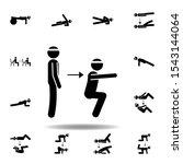 fitness  squat icon. element of ...