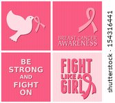 a set of breast cancer... | Shutterstock .eps vector #154316441