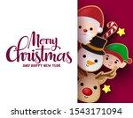 christmas greeting card vector... | Shutterstock .eps vector #1543171094