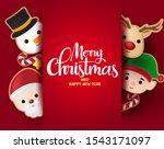 christmas greeting vector... | Shutterstock .eps vector #1543171097
