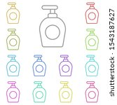 lotion multi color icon. simple ...
