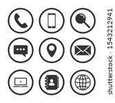 web icons set  contact us... | Shutterstock .eps vector #1543212941