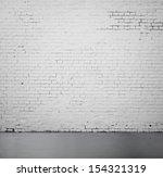 High Resolution White Brick...