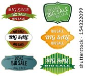 big sale labels on white... | Shutterstock .eps vector #154322099
