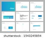 corporate identity branding.... | Shutterstock .eps vector #1543245854