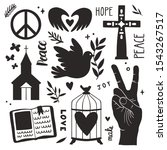 vector religion set with black... | Shutterstock .eps vector #1543267517