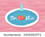 red smoothie strawberry... | Shutterstock . vector #1543281971