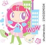 cute girl illustration.for...   Shutterstock .eps vector #1543309034