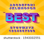 3d bold retro font. vintage... | Shutterstock .eps vector #1543332551