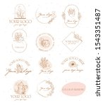 collection of logos and icons... | Shutterstock .eps vector #1543351487