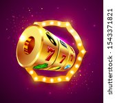 golden slot machine wins the...   Shutterstock .eps vector #1543371821