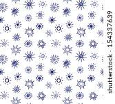 sun symbols seamless pattern | Shutterstock .eps vector #154337639