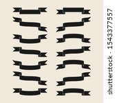 black ribbon banners collection ... | Shutterstock .eps vector #1543377557