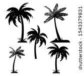 vector silhouette set of palm... | Shutterstock .eps vector #1543379831