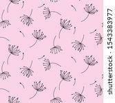 Simple Dandelions On Pink...