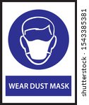 wear mask ppe sign and symbol | Shutterstock . vector #1543385381