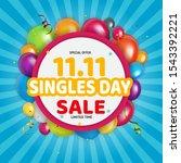 november 11 singles day sale....   Shutterstock .eps vector #1543392221