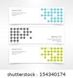 vector set of three header... | Shutterstock .eps vector #154340174
