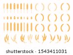 set of wheats ears icons and... | Shutterstock .eps vector #1543411031