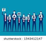 business teamwork. concept... | Shutterstock .eps vector #1543412147