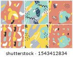vector seamless pattern set .... | Shutterstock .eps vector #1543412834