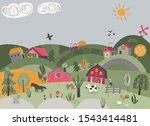vector illustration of rural... | Shutterstock .eps vector #1543414481
