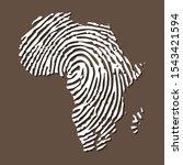 sketch fingerprint african... | Shutterstock .eps vector #1543421594