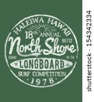 north shore surfing theme... | Shutterstock .eps vector #154342334