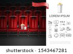 realistic movie theater concept ... | Shutterstock .eps vector #1543467281