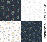 christmas  pattern set. winter... | Shutterstock .eps vector #1543474634