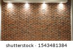 Red Brick Wall Background With...