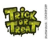 trick or treat. vector... | Shutterstock .eps vector #154349189