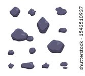 vector purple stones isolated...